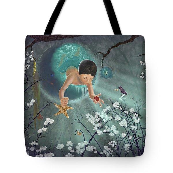 Keepsakes Of The Ocean Tote Bag by Audra D Lemke
