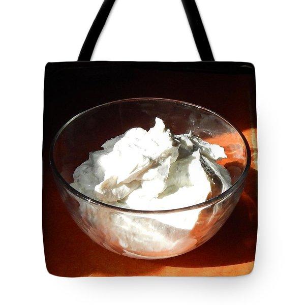Tote Bag featuring the digital art Kefir Dip by Aliceann Carlton
