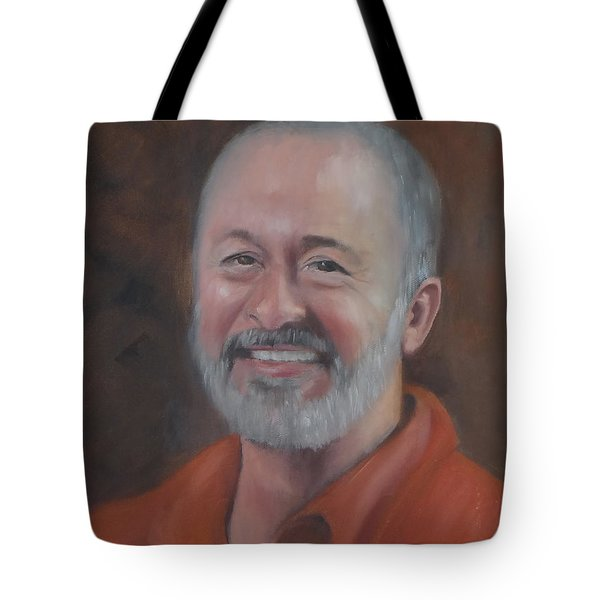 Tote Bag featuring the painting Keith by Carol Berning