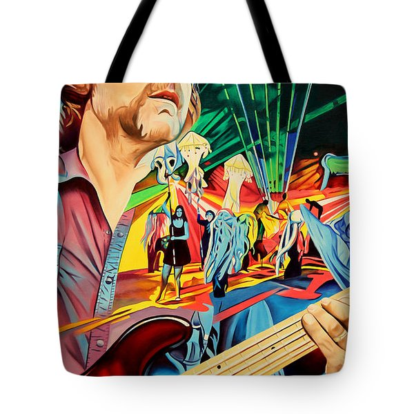 Tote Bag featuring the painting Keith Moseley At Horning's Hideout by Joshua Morton