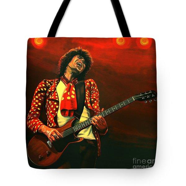 Keith Richards Painting Tote Bag