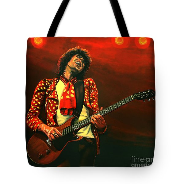 Keith Richards Painting Tote Bag