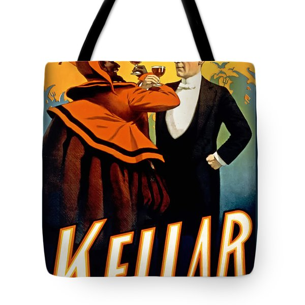 Kellar Toasts The Devil Tote Bag