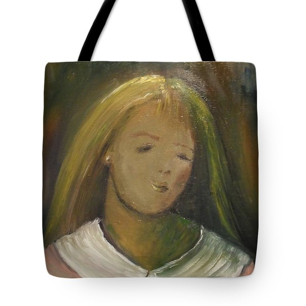 Tote Bag featuring the painting Kelly by Laurie Lundquist