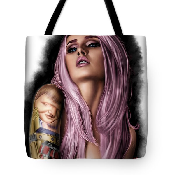 Tote Bag featuring the painting Kelly by Pete Tapang