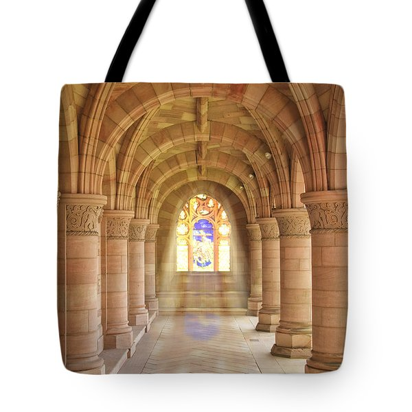 Kelso Abbey Stained Glass Tote Bag