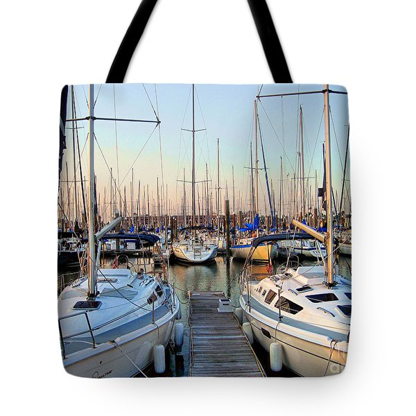 Kemah Boardwalk Marina Tote Bag by Savannah Gibbs