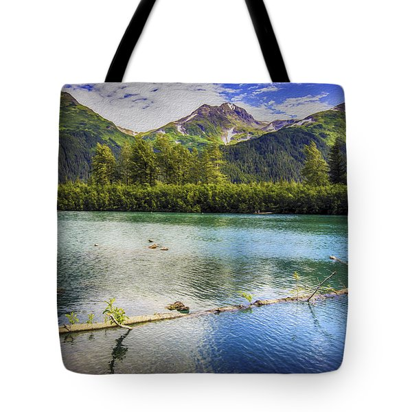 Kenai Alaska Lake Tote Bag