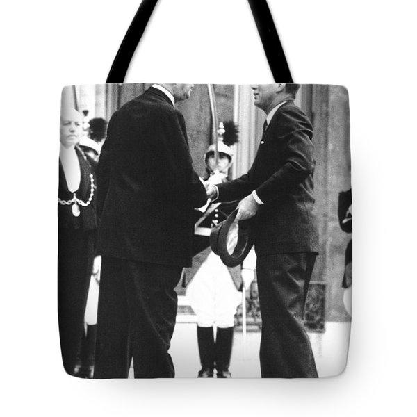 Kennedy & De Gaulle Meet Tote Bag