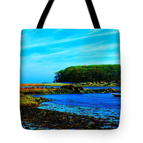 Tote Bag featuring the photograph Kennepunkport Vaughn Island  by Tom Jelen