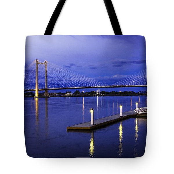 Tote Bag featuring the photograph Kennewick Bridge 2 by Sonya Lang