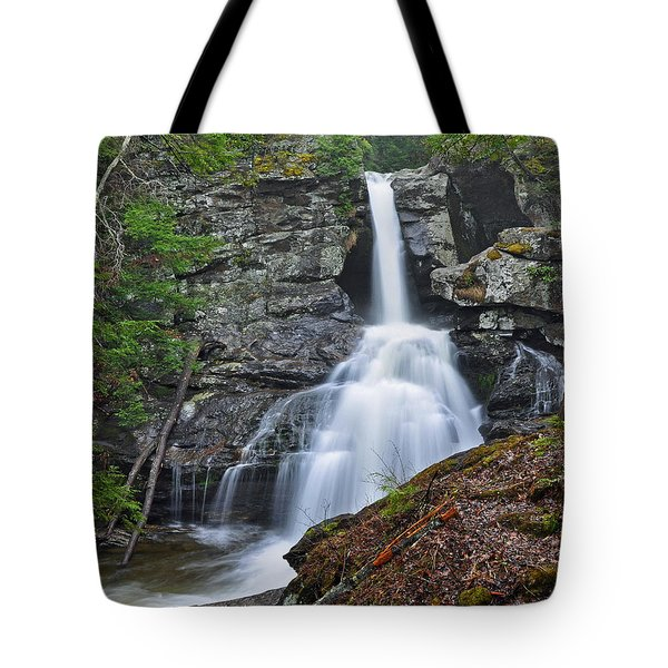 Kent Falls State Park Ct Waterfall Tote Bag