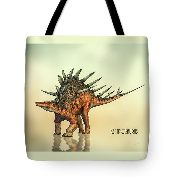 Kentrosaurus Dinosaur Tote Bag by Bob Orsillo