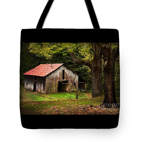 Kentucky Barn Tote Bag by Lena Auxier