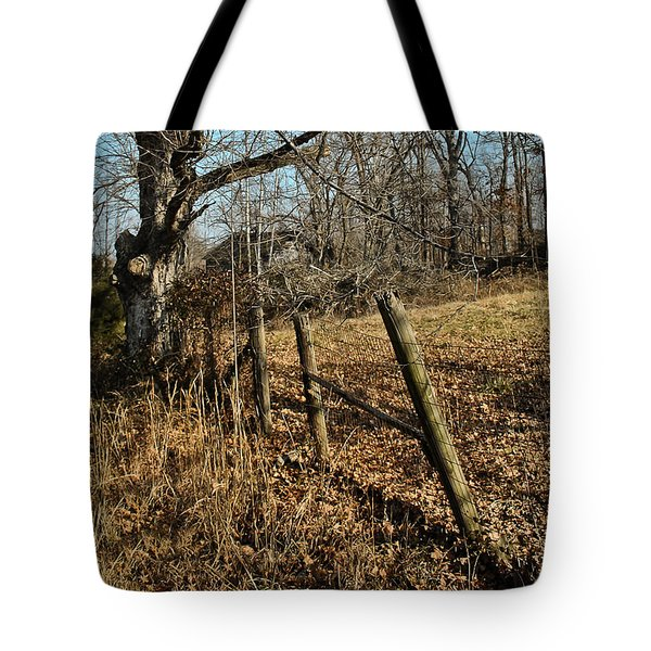 Tote Bag featuring the photograph Kentucky Fence Row by Greg Jackson
