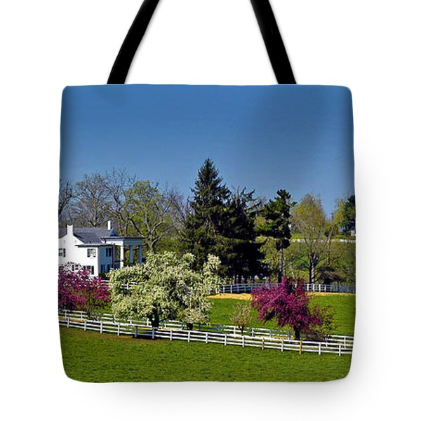 Kentucky Horse Farm Tote Bag