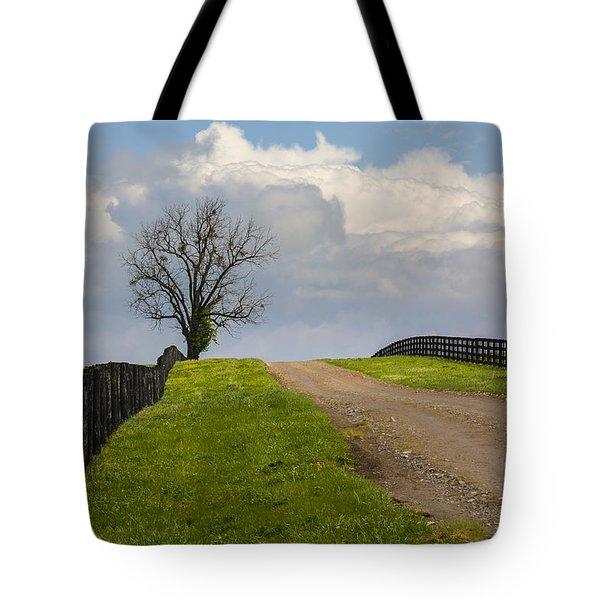 Kentucky Horse Farm Road Tote Bag