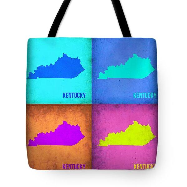 Kentucky Pop Art Map 1 Tote Bag by Naxart Studio