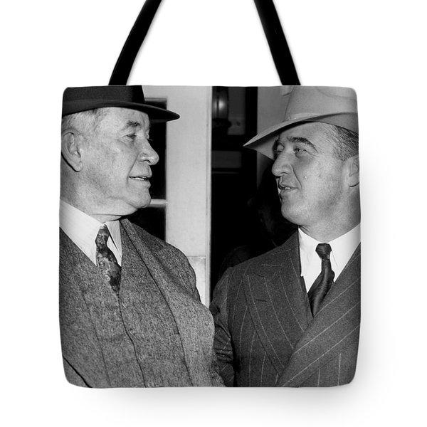 Kentucky Senators Visit Fdr Tote Bag by Underwood Archives