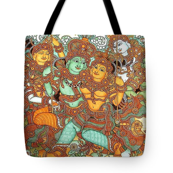 Kerala Mural Painting Tote Bag by Pg Reproductions