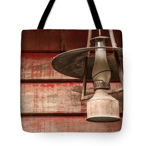 Kerosene Lantern Tote Bag by Carlos Caetano