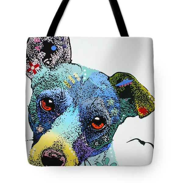Tote Bag featuring the painting Jack by Luis Ludzska