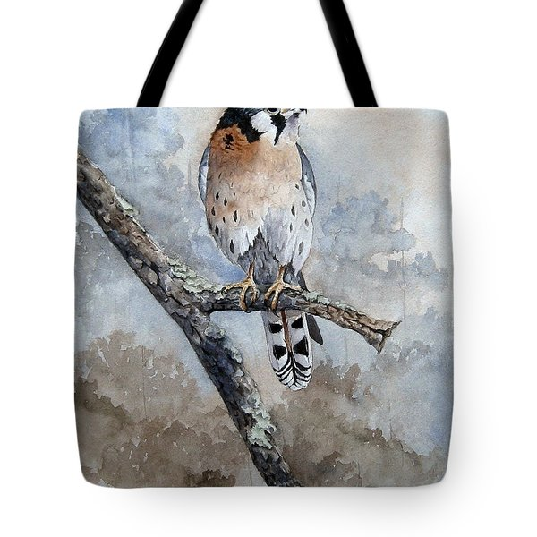 Kestrel Perch Tote Bag by Mary McCullah