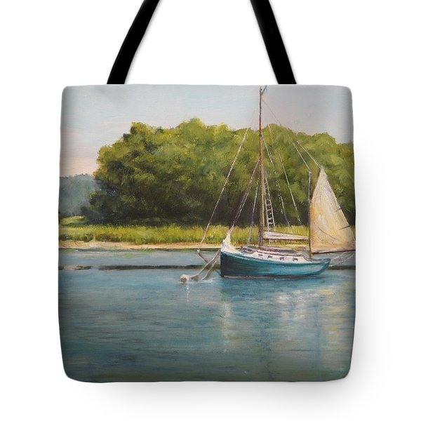 Ketch At Anchor Tote Bag