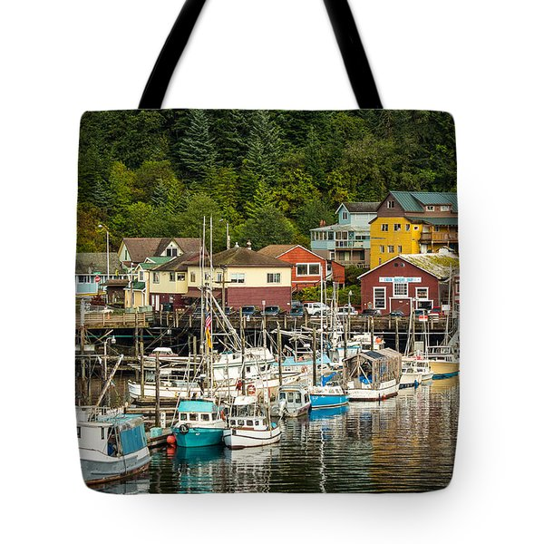 Ketchikan Harbor Tote Bag