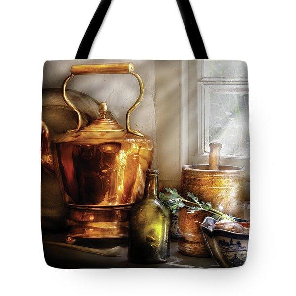 Kettle - Cherished Memories Tote Bag by Mike Savad