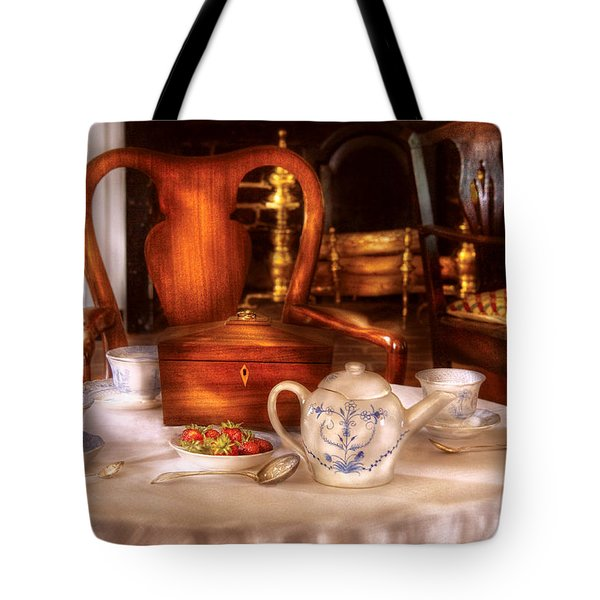 Kettle -  Have Some Tea - Chinese Tea Set Tote Bag by Mike Savad