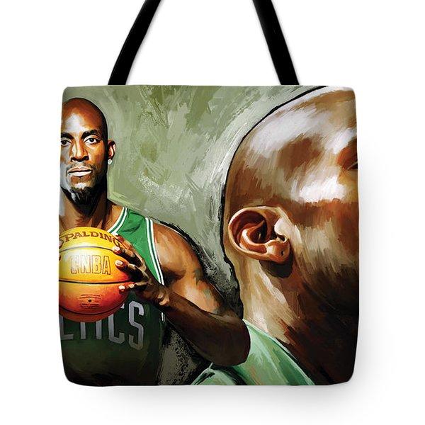 Kevin Garnett Artwork 1 Tote Bag by Sheraz A