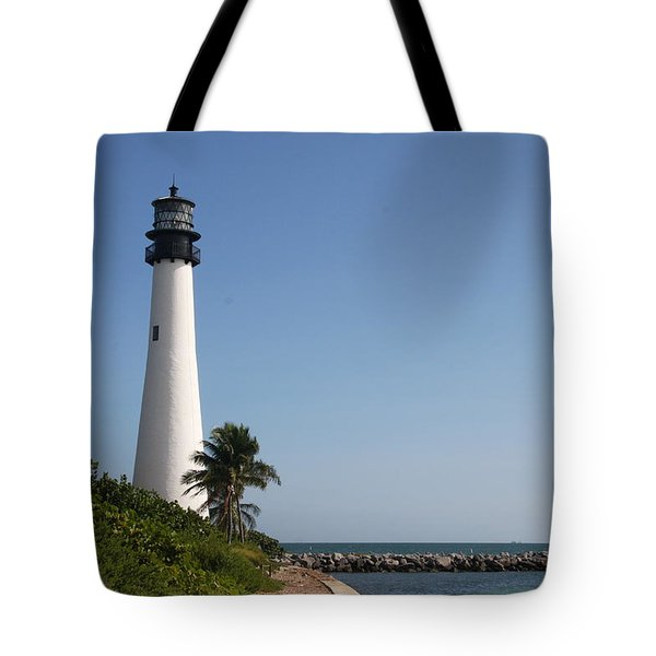 Tote Bag featuring the photograph Key Biscayne Lighthouse by Christiane Schulze Art And Photography