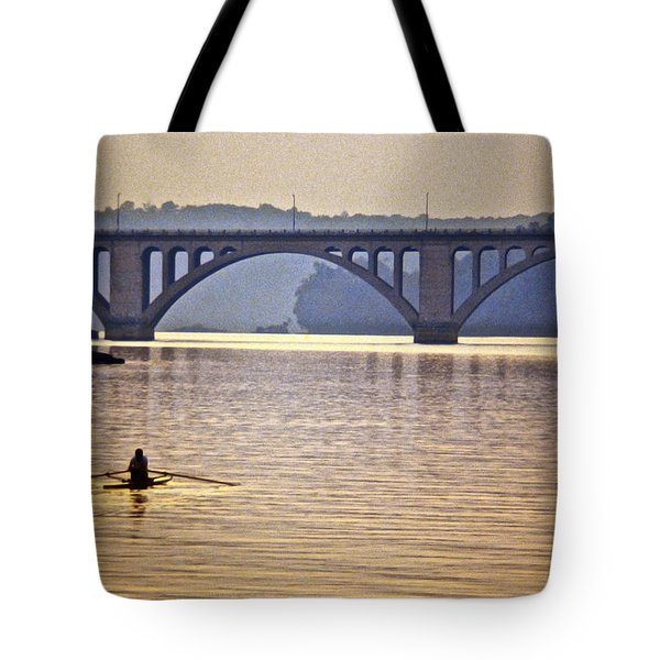 Key Bridge Rower Tote Bag