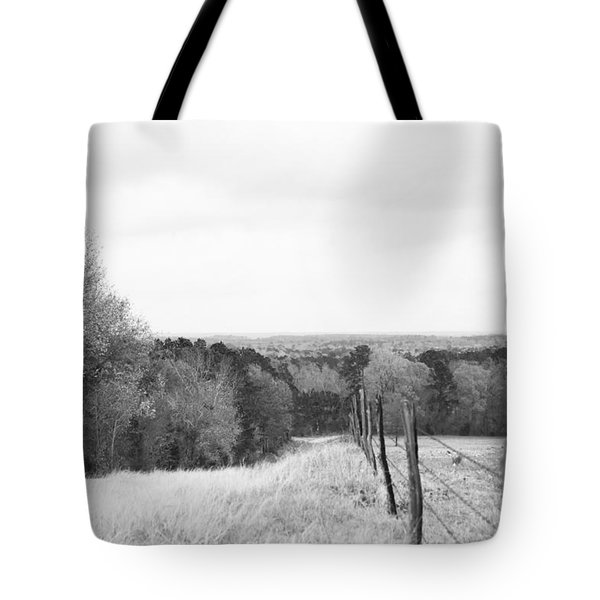 Key Hill 2 Black And White Tote Bag