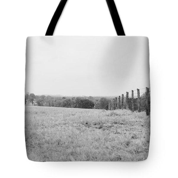 Key Hill 3 Black And White Tote Bag