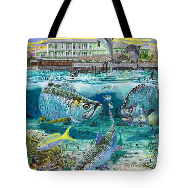 Key Largo Grand Slam Tote Bag by Carey Chen