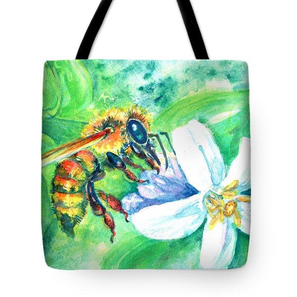 Key Lime Honeybee Tote Bag