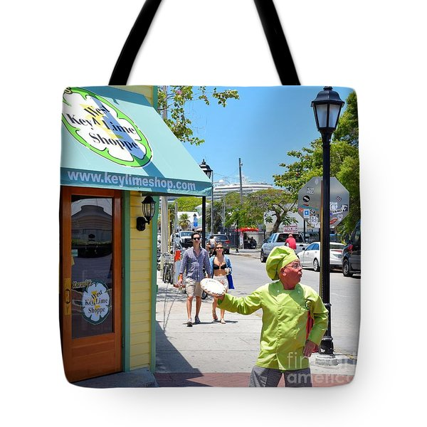 Key Lime Pie Man In Key West Tote Bag