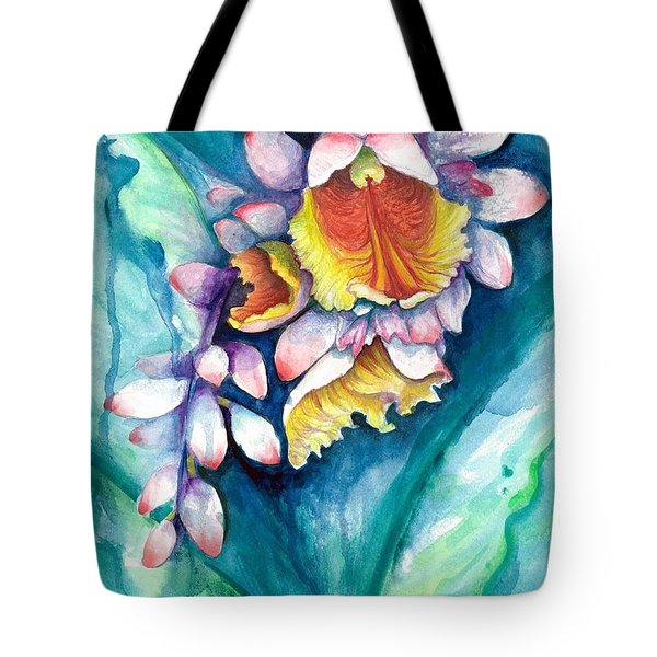 Tote Bag featuring the painting Key West Ginger by Ashley Kujan