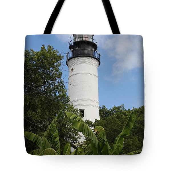 Tote Bag featuring the photograph Key West Lighthouse  by Christiane Schulze Art And Photography