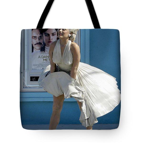Key West Marilyn Tote Bag by Bob Slitzan
