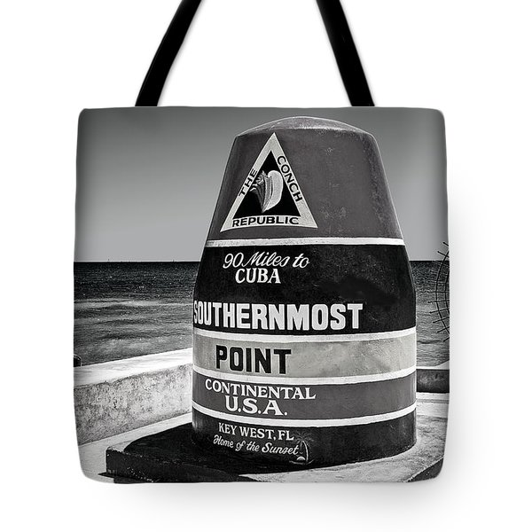 Key West Cuba Distance Marker Tote Bag