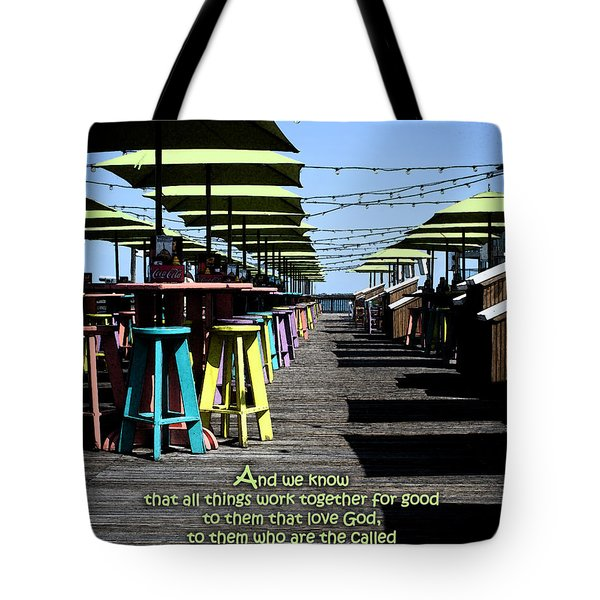 Key West Pier Romans 8 Tote Bag