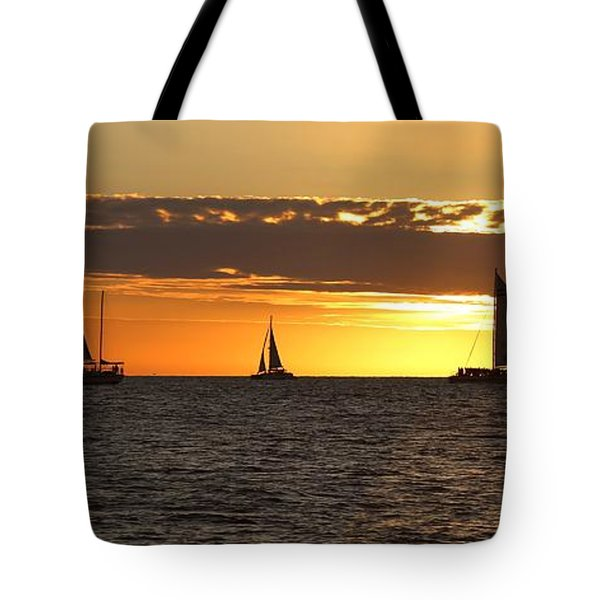 Key West Sunset Fleet Tote Bag