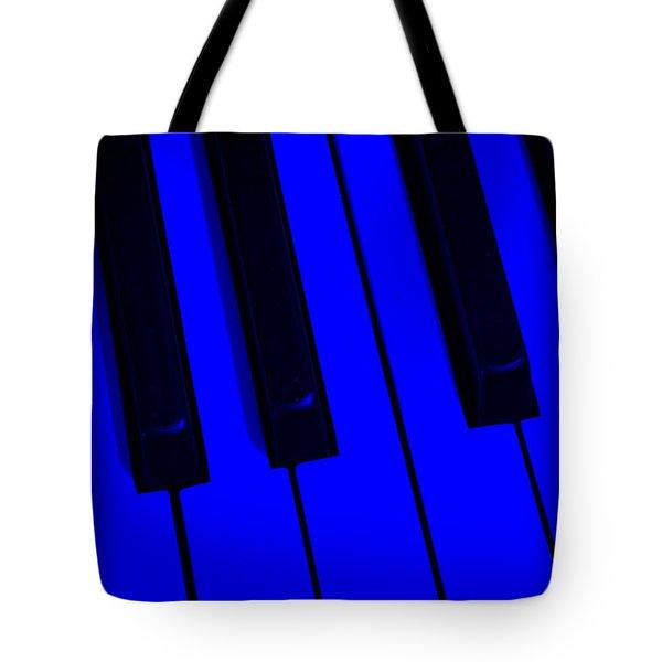 Keyboard Blues Tote Bag by John Stephens