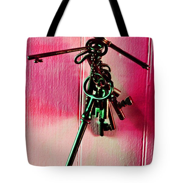 Keyed Tote Bag by Holly Blunkall