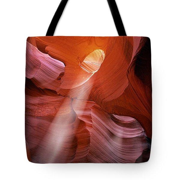 Keyhole Light Tote Bag by Inge Johnsson
