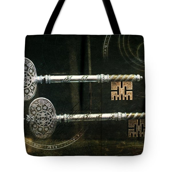 Keys To My Heart Are Silver And Gold Tote Bag by Evie Carrier