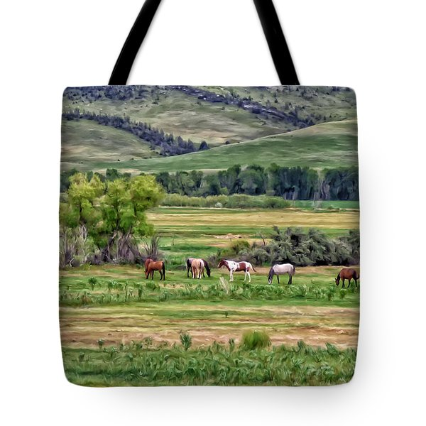 Tote Bag featuring the painting K G Ranch by Michael Pickett